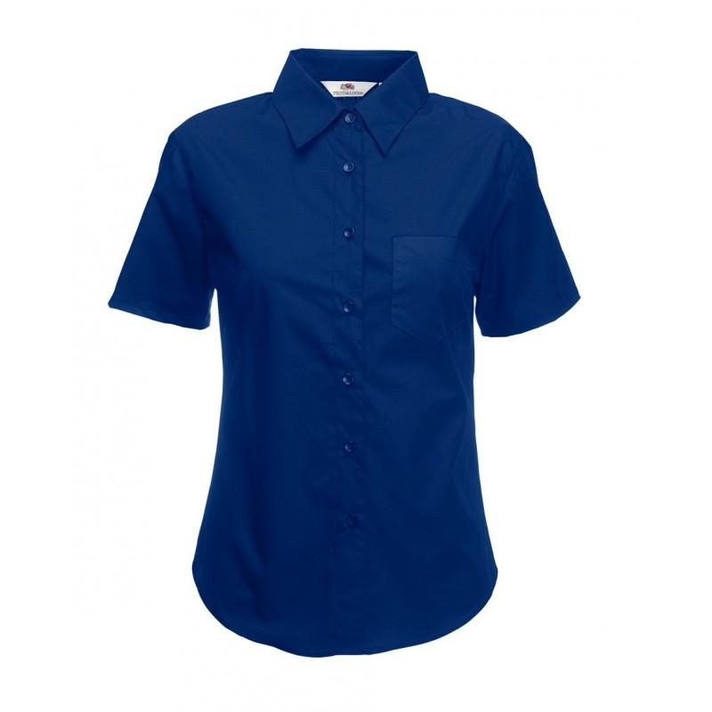 a5aec07a9e CAMISA DE POPELINA MANGA CORTA PARA MUJER - Dt - Distribuciones Textiles